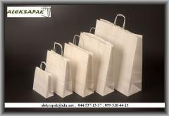 Packages paper with handles and without handles