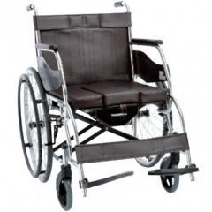 Складная инвалидная коляска с санитарным