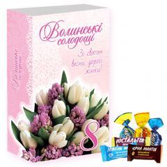 """Набо шоколадных конфет с сухофруктами """"К"""