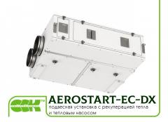 AEROSTART-EC-DX suspended unit with heat recovery