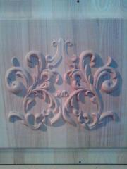 Woodcarving, turning works.
