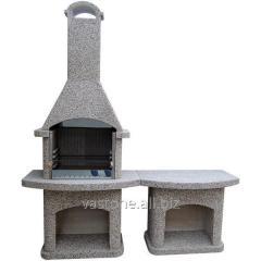 Камин-барбекю садовый «Рио» со столом