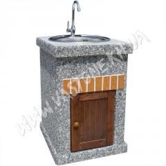 Стол-мойка «Манчестер» №2 с дверцей Мрамор серый