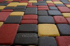 Тротуарная плитка «Старый город» 4 см Красный