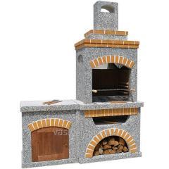 Камин, печь барбекю «Манчестер» со столом и