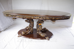 Элитный резной стол из массива дерева в стиле