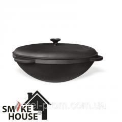 Казан Smoke House Азия с крышкой 12 л