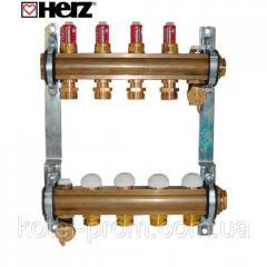 Коллектор для теплого пола Herz с расходомерами G