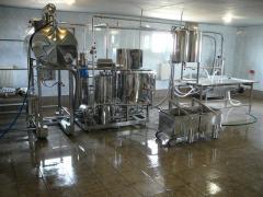 Equipment for development of kefir, goat milk,