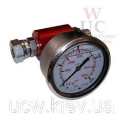 Глицериновый манометр для измерения давления во время инъекционных работ