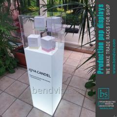 Рекламная стойка витрина для парфюма