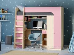 Кровать-чердак с рабочим местом ДМ 08