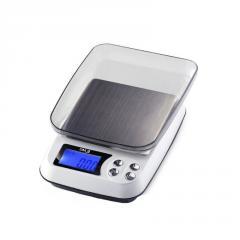 Весы цифровые DM.3 (±0,01-500 г) с функцией счета, съемной крышкой и возможностью работать от сети 220V