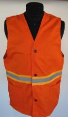 The vest is alarm, with light-reflective tapes.
