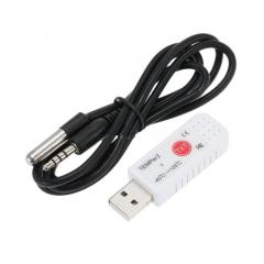 USB регистратор температуры Double sensor TEMPer2 (-40...+125 C) с выносным водозащищённым датчиком, ПО