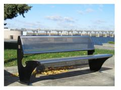 "Bench ""PARK"" a seat and a back -"