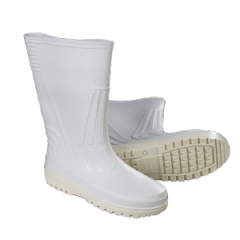 Boots rubber PVC white
