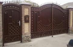 Двери, ворота, двери, заборы, решетки и др.