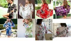 Cексуальный женский халат + пояс 12 цветов