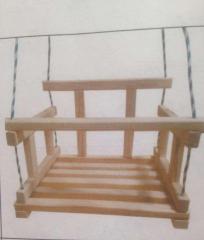 Качель деревянная 079