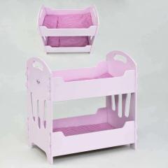 Кроватка для кукол двухярусная 8002