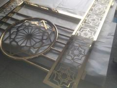Turkish balcony made of stainless steel with