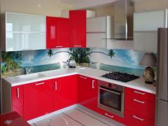 Кухонный фартук Остров (наклейка виниловая на