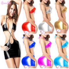 Сексуальное Женское платье блестящее 7 цветов ( на