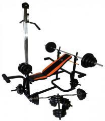 Скамья тренировочная WCG 0070 + тяга скотта набор