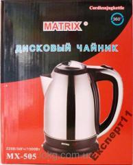 Чайник дисковый электрический Matrix, 1,8 л