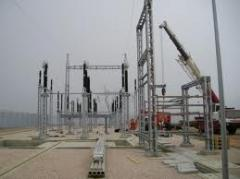 Конструкции железобетонные открытых подстанций