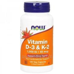 Минералы Vitamin D-3 & K-2 (120 капсул)
