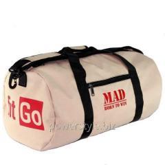 Спортивная сумка FitGO Бежевая