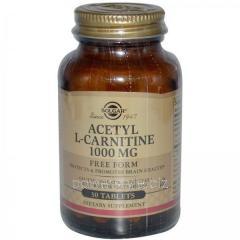 Жиросжигатель Ацетил-L-Карнитин, 1000 мг, Solgar, 30 таблеток