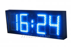 Electronic clock fron