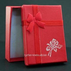 Коробочка под брелок номер с мягкой подложкой (красная, голубая, сиреневая, розовая (на выбор) в киеве