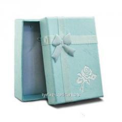 Подарочная коробочка под брелок гос номер автомобиля (голубая)