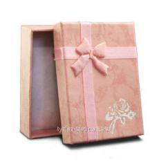 Подарочная упаковка под брелок номер (розовая)