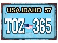 Американский номер Айдахо (Изготовим за 1 час)