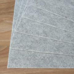 Войлок натуральный светло-серый состав 100% шерсть, толщина 1,2 мм. Ширина рулона 180 см. Производство италия