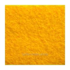 Войлок синтетический желтый фетр состав 100% полиэстер, толщина 3 мм. Ширина рулона 100 см. Италия.