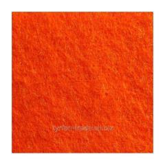 Войлок синтетический оранжевый фетр состав 100% полиэстер, толщина 3 мм. Ширина рулона 100 см. Италия