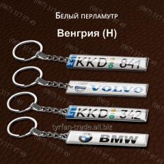 Брелок гос номера *венгрия* за 1 час изготовление брелков с номером любой страны мира