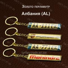 Брелок гос номера *албания* -за 1 час- изготовление брелков с номером любой страны мира