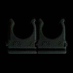 Клипса для гофротрубы Ø16 черная