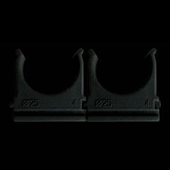 Клипса для гофротрубы Ø25 черная