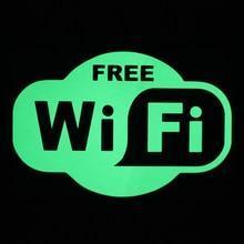 Таблички wi-fi зона светящаяся в темноте без батареек и электричества
