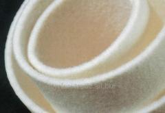 Белый войлок толщиной 10мм шириной 1700мм плотность 550 (продажи от 1-го метра)