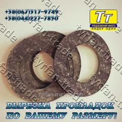 Прокладка фланца ду-200 (паронит, резина, фторопласт, тефлон) вырезка прокладок по вашему индивид. Размеру