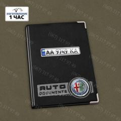 Обложка на авто документы и паспорт с номером и лого вашего авто + брелок с номером
